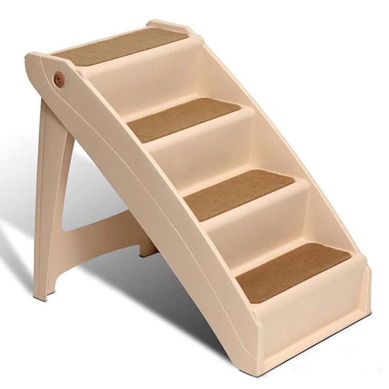 PupSTEP Plus pet stairs are an economical way to help dogs reach high-up places, including tall beds and vehicles.