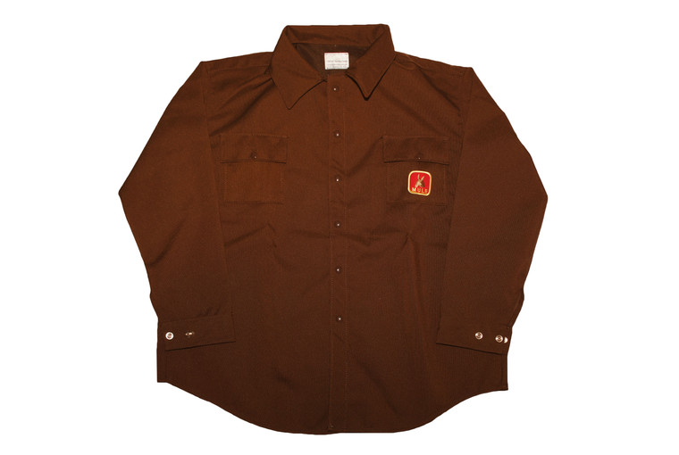 mule briarproof shirt in brown - no liner - optional hood attachment