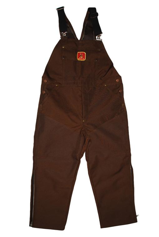 mule briarproof bibs in brown at okie dog supply - mule hunting clothes original bibs