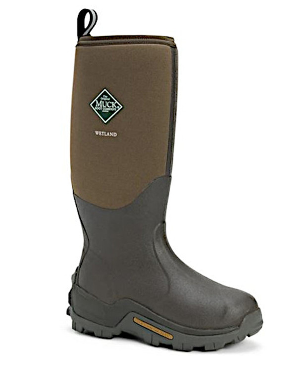 "muck wetland field boot is waterproof and warm. 16"" upper neoprene - available at OKIE DOG SUPPLY"