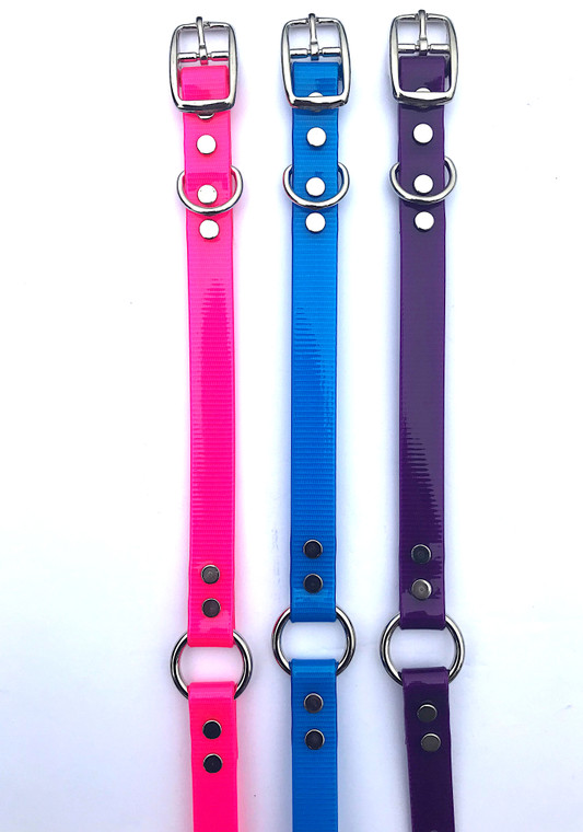3/4 inch dayglo collars at okie dog supply - hand crafted