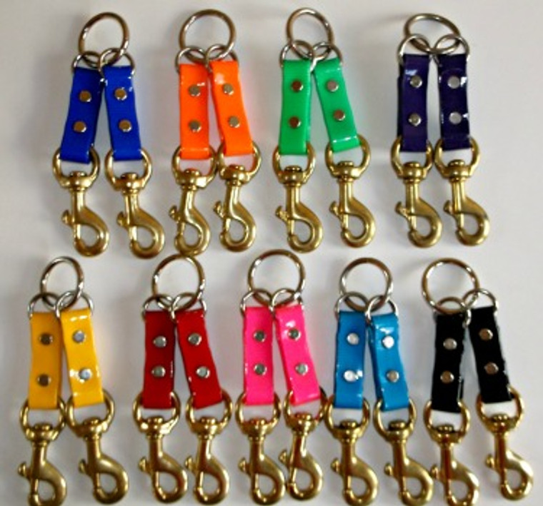 2dog dayglo couplers at okie dog supply - handcrafted to lay flat