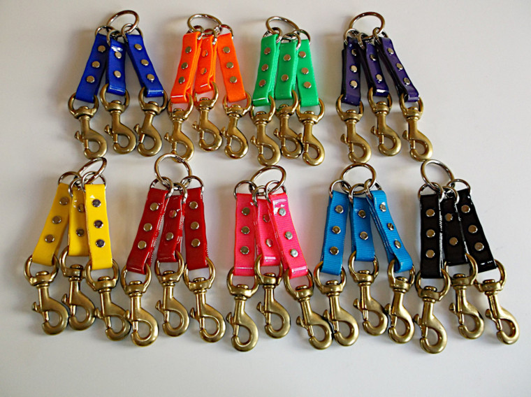 dayglo couplers in half inch in lots of colors! Made at okie dog supply