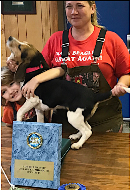 blue marble plaque showing off first place - one style of plaque we can do at okie dog supply