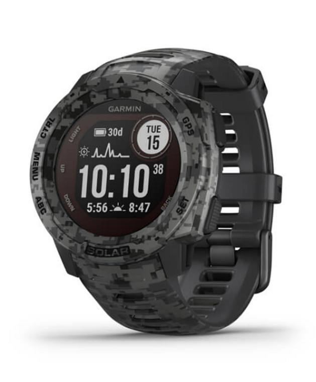 garmin instinct in graphite camo - be cool and be healthy with garmin instinct! Ships free at okie dog supply