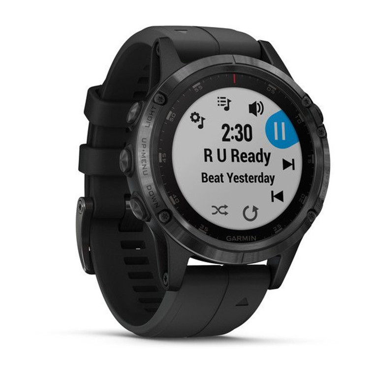 fenix 5 plus in black with a black band - at OKIE DOG SUPPLY - ships free