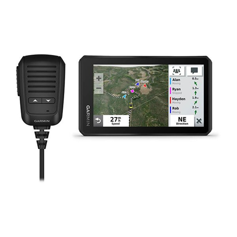 You're looking for a rugged powersport GPS navigator that can keep up with gnarly off-road terrain when on your side-by-side vehicle, while keeping your group of riding friends radio-connected. Tread is the one.