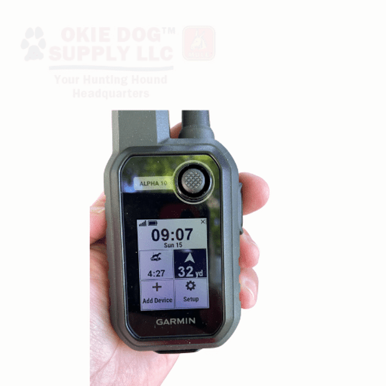 alpha 10 home screen with truck marked - ships free at okie dog supply - garmin experts