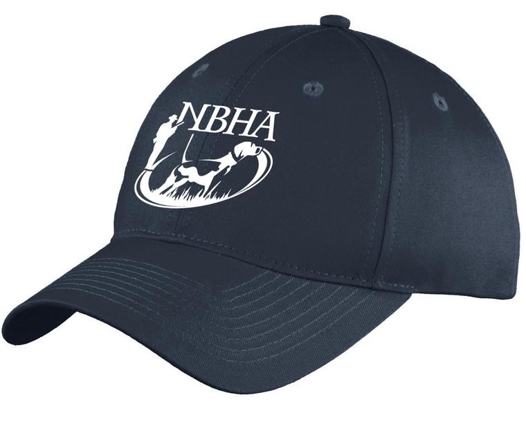 nbha navy cap at okie dog supply with white logo