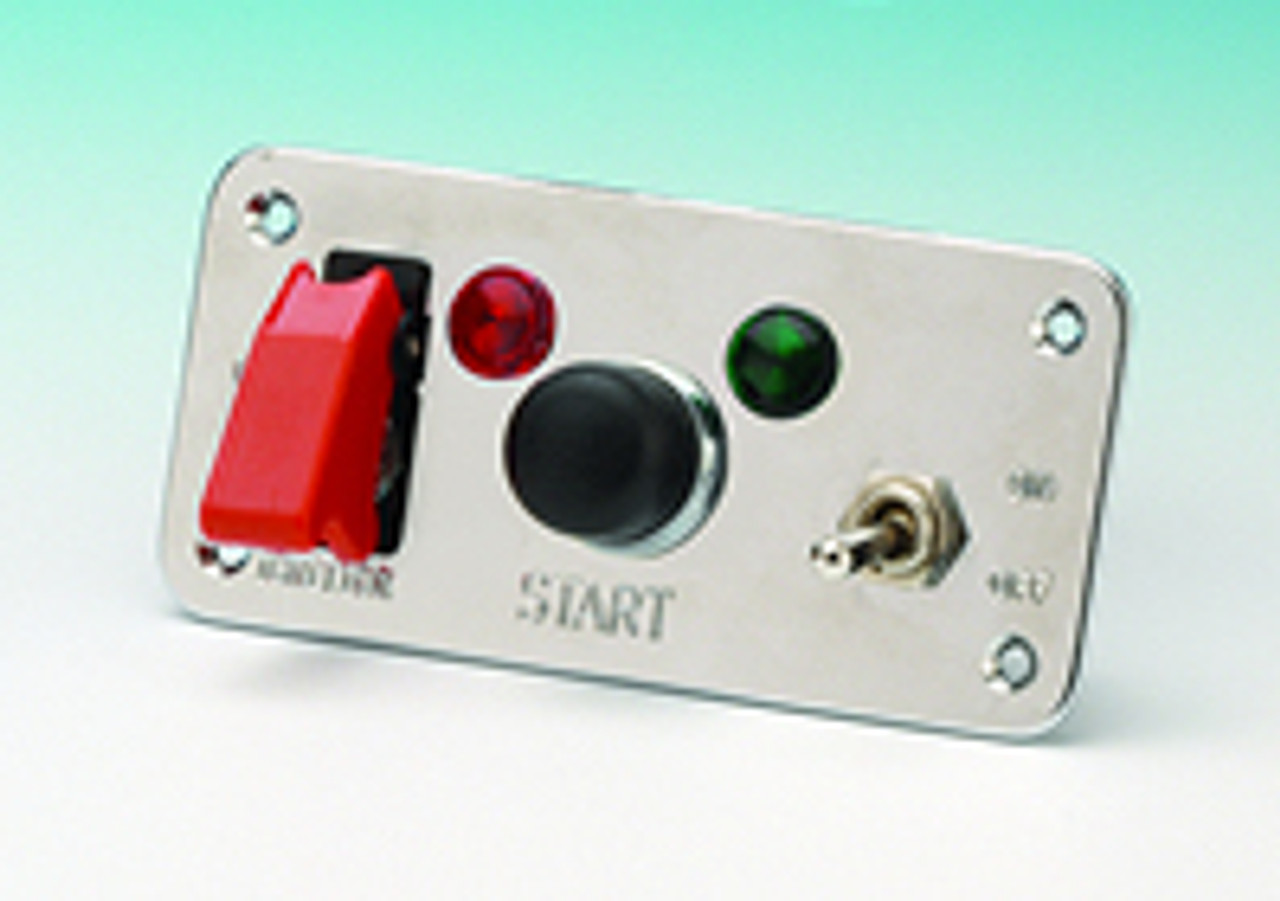 Starter panel with 30amp on/off toggle fitted with aircraft flip cover