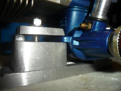 Photo (1) showing Crank Case clearance. Engine - OS LA .46.   Photo courtesy of  Darren H.