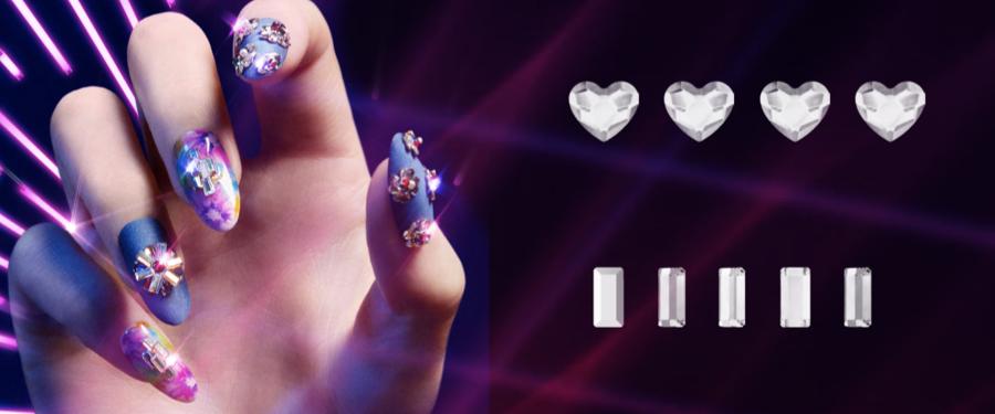 Swarovski NEW Mini Heart & Baguette Crystals for Nails