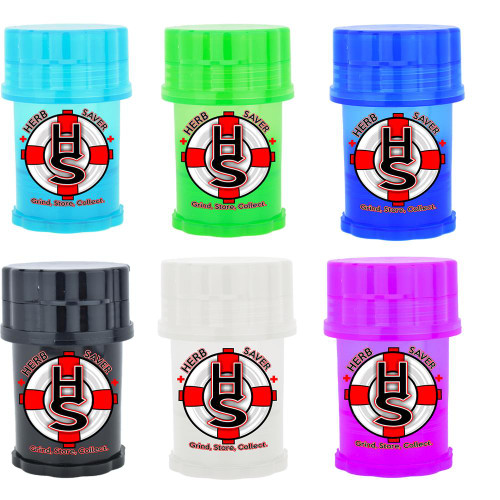 Large Herb Saver Herb Grinder Assorted 6 pack Choose your own colors