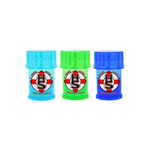 Mini Herb Saver Herb Grinder  ASSORTED 3 PACK Choose your own colors
