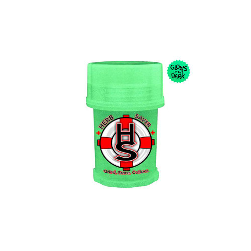 Herb Saver Mini Glow in the Dark HerbSaver Herb Grinder Various Colors Available