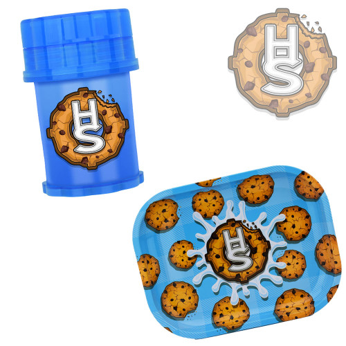 Herb Saver Limited Drop Cookies and Milk Herb Saver Grinder 2.4 X 3.8 and Serving Tray BUNDLE