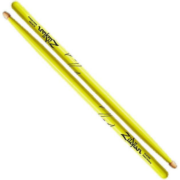 Zildjian 5A Neon Yellow Drum Sticks