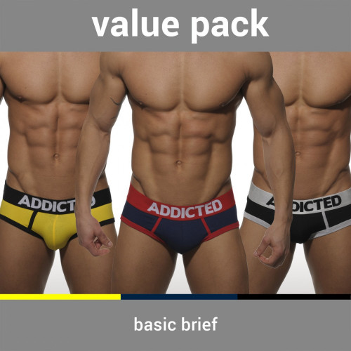 Addicted Underwear Basic Brief 3-Pack (AD001P)