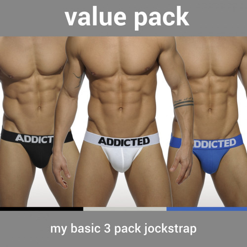 Addicted Underwear My Basic 3-Pack Jocks (AD422P-3COL)