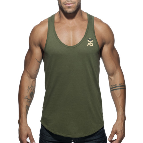 Addicted Military Tank Top Khaki AD611 (AD611-12)
