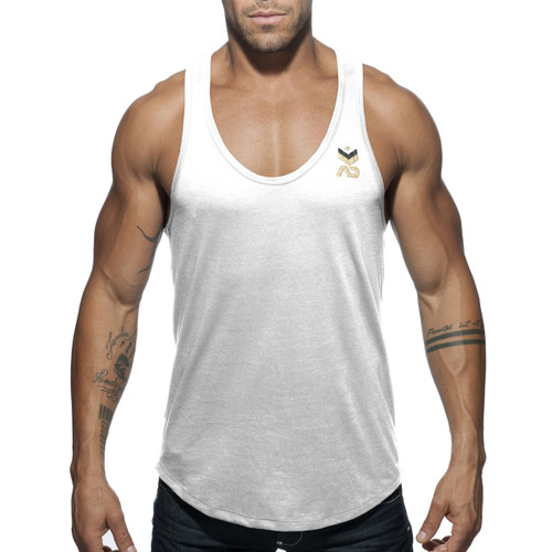 Addicted Military Tank Top White AD611 (ADD611-01)
