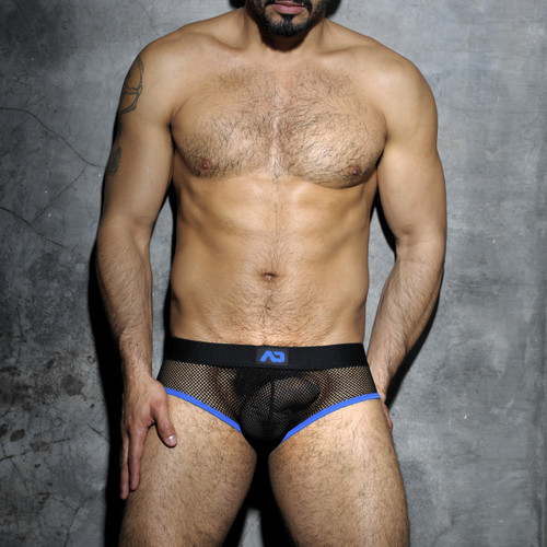 Addicted Underwear Fetish Mesh Brief Royal Blue ADF02