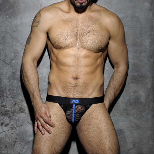 Addicted Underwear Fetish Mesh Jockstrap Royal Blue ADF05