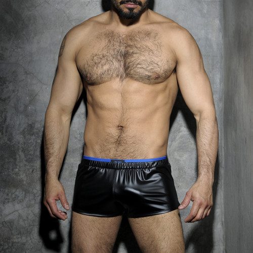 Addicted Underwear Fetish Rubber Shorts Royal Blue ADF50