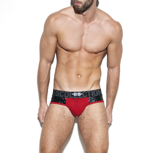 ES Collection Underwear UN277 Dystopia Signature Brief Red (UN277-06)