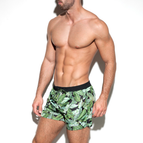 ES Collection Leaves Swim Boardshorts Black (UN1908-10)