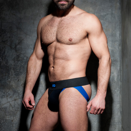 Addicted Underwear Rib Jock Blue (ADF84-16)