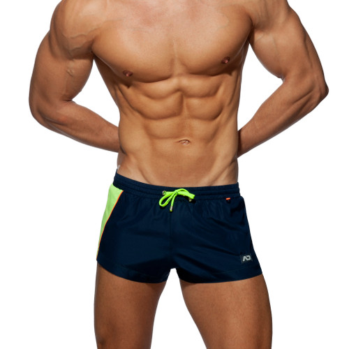 Addicted Beachwear Racing Side Shorts Navy ADS232 (ADS232-09)