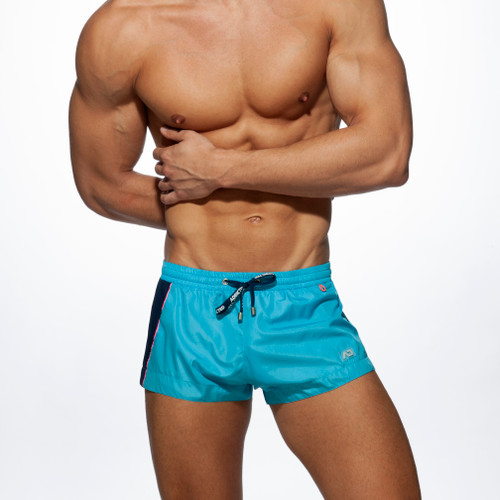 Addicted Beachwear Racing Side Shorts Turquoise ADS232 (ADS232-08)
