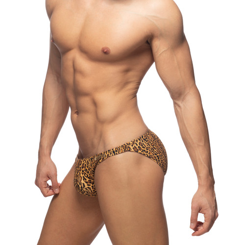 Addicted Swimwear Leopard Swim Brief Brown (ADS270-13)