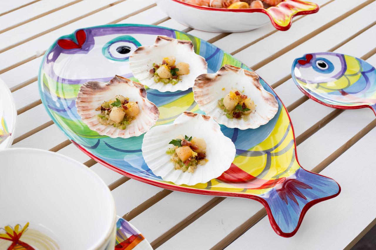 New Pesci Colorati Figural Fish Platter