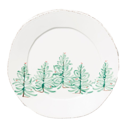 """Lastra Holiday Round Platter  LAH-2621  14.25""""D"""