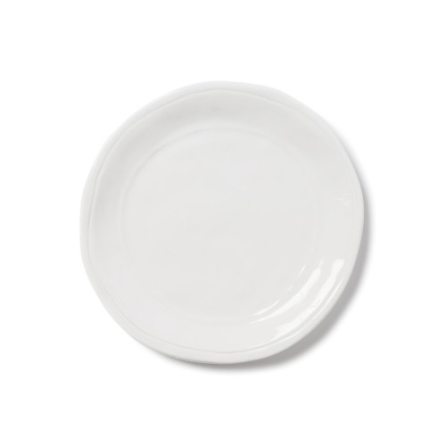 """Perfect for appetizers on the kitchen island or in the dining room for well-dressed dinner parties, the Fresh White Salad Plate is simple and clean. Layer with your grandmother's fine china or favorites from your local boutique, either way it's a fun, playful setting. 8.75""""D VFRS-2601W"""