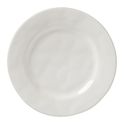 """Puro Whitewash Side/Cocktail Plate  № KS03/10  From our Puro Collection - Dish up a side of understated beauty with this tidy little plate that lives up to its name - Puro - and is the perfect neutral palette to serve up everything from delicate confections at teatime to savory tapas at cocktail hour.   Measurements: 7"""" W Made of Ceramic Stoneware Oven, Microwave, Dishwasher, and Freezer Safe Made in Portugal"""