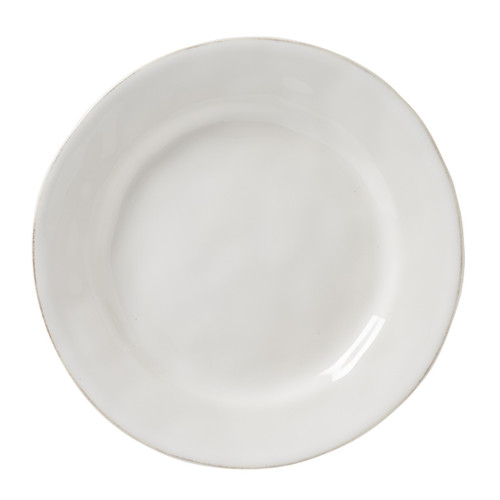 """Puro Whitewash Dessert/Salad Plate  № KS02/10  From our Puro Collection - The bold beauty of this accent plate lies in its studied simplicity and is perfect for everyday use, but also a must-have layering piece to mix into your table setting repertoire.  Measurements: 9"""" Wide Made of Ceramic Stoneware Oven, Microwave, Dishwasher, and Freezer Safe Made in Portugal"""