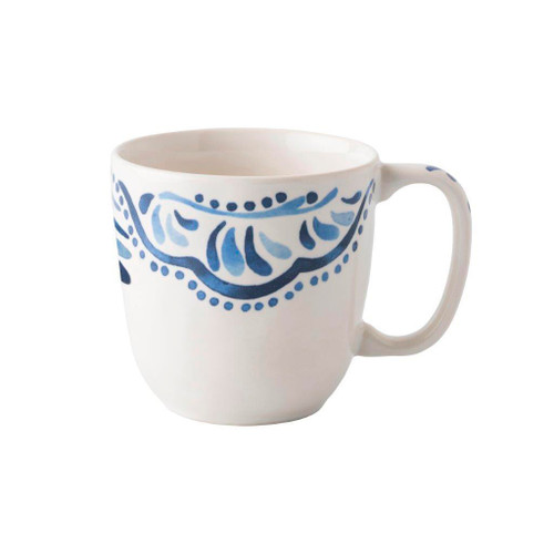 Juliska Iberian Journey Indigo Cofftea Cup  № KI46/046 From Juliska's Wanderlust Collection- A journey to the sandy Iberian coast inspired this Iberian Journey motif from plumpuddingkitchen.com. We've reinterpreted this region's stunning cobalt blue painted tiles onto key accent pieces such as this cofftea cup.