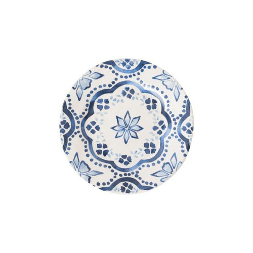 Juliska Iberian Journey Indigo Side/Cocktail Plate  № KI03/046 From Juliska's  Wanderlust Collection- A journey to the sandy Iberian coast inspired this Iberian Journey motif from plumpuddingkitchen.com. We've reinterpreted this region's stunning cobalt blue painted tiles onto key accent pieces such as this side/cocktail plate.