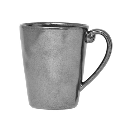 "Pewter Stoneware Mug  № KP06X/91  From our Pewter Collection - An elegant vessel as warm as its contents, our Pewter Stoneware mug will quickly become a morning essential.  Measurements: 3.5"" W x 4.5"" H Capacity: 12 ounces Made of Ceramic Stoneware Oven, Microwave, Dishwasher, and Freezer Safe Made in Portugal"