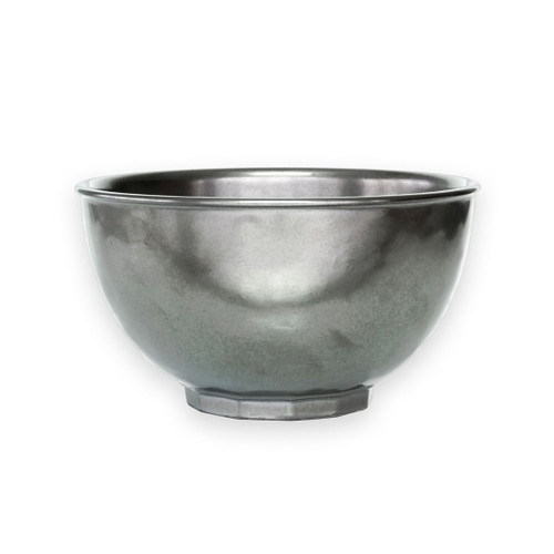 "№ KP07/91 From our Pewter Collection - Add a dash of understated radiance to your everyday routine with this gleaming bowl. Lovely for your morning cereal, picturesque when filled with bright raspberries.  Measurements: 6"" W x 3.5"" H Capacity: 28 ounces Made of Ceramic Stoneware Oven, Microwave, Dishwasher, and Freezer Safe Made in Portugal"