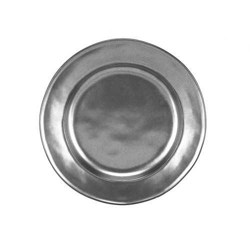 """Pewter Stoneware Dessert/Salad Plate  № KP02X/91  From our Pewter Collection - Our burnished Pewter hue makes for an eternally chic backdrop for everything from your seasonal salad course to your homemade confections.   Measurements: 9"""" W Made of Ceramic Stoneware Oven, Microwave, Dishwasher, and Freezer Safe Made in Portugal"""