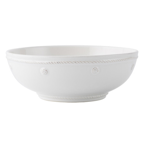 """Berry & Thread Whitewash 7.75"""" Coupe Pasta Bowl  № JA64/W  From our Berry & Thread Collection- This vessel is ideal for generous portions of your go-to, midweek meals, like pasta bolognese. Simply decorated and eternally chic in our whitewash hue, this bowl is as versatile as it is prodigious.   Measurements: 7.75"""" W x 2.75"""" H Capacity: 1 quart Made of Ceramic Stoneware Oven, Microwave, Dishwasher, and Freezer Safe Made in Portugal"""