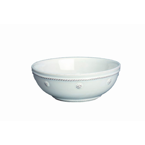 "Berry & Thread Whitewash 6"" Coupe Bowl  № JA81/W  From our Berry & Thread Collection- Keep some these on hand for effortless everyday entertaining. With its simple trimmings and classic shape, you'll find endless opportunities to make pretty presentations of condiments, side dishes, pocket change, or bon bons.  Measurements: 6"" W Capacity: 16 ounces Made of Ceramic Stoneware Oven, Microwave, Dishwasher, and Freezer Safe Made in Portugal"