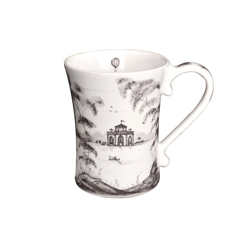 "Country Estate Flint Mug Sporting  № CE06/94  From our Country Estate Collection- Embark upon every daily adventure with a piping hot cup of coffee, whether you go punting on the river or play a round of golf. Featuring: Boathouse, Golf Hut, and Stable.  Pruduct Measures: 3.5""W, 4.5"" H  Capacity: 12 ounces Made of Ceramic stoneware Oven, Microwave, Dishwasher, and Freezer Safe Made in Portugal"