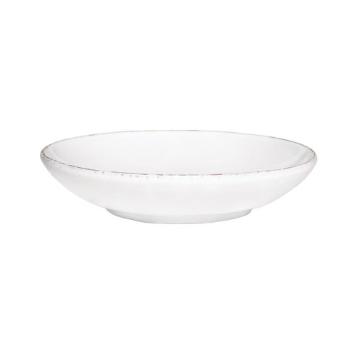 "The Bianco White Coupe Bowl features the charming shapes and rustic deckled edges that characterize the Tuscan Solid collections. 8.5""D BIA-2678"