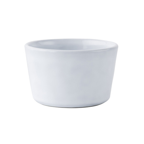 "№ KQ12/17 From our Quotidien Collection - An after dinner chocolate pot de creme or an individually baked mac and cheese for the kids is irresistible in our cheerful white ramekin. Our stoneware's non-porous surface coupled with our extremely durable glaze provides a quick and easy clean up.   Measurements: 4"" W x 2.5"" W Capacity: 9 ounces Made of Ceramic Stoneware Oven, Microwave, Dishwasher, and Freezer Safe Made in Portugal"