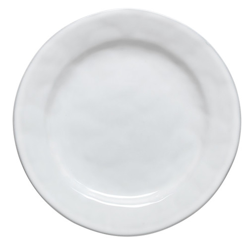 "№ KQ01/17  From our Quotidien Collection - The modern artisanal sensibility of this dinner plate acts as a canvas for your epicurean endeavors. Layer with our Firenze or Le Panier pieces to create an interesting and elegant table.  Measurements: 11"" W Made of Ceramic Stoneware Oven, Microwave, Dishwasher, and Freezer Safe Made in PortugalQuotidien White Truffle Dinner Plate"